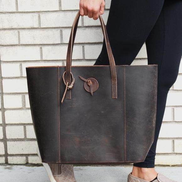 50d0bfd25e Baseballism Handbags - Baseballism Vintage Glove Leather Distressed Tote